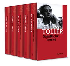 Abbildung der mehrbändigen Ausgabe sämtlicher Werke Ernst Tollers